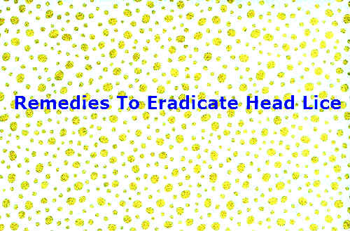 Remedies To Eradicate Head Lice
