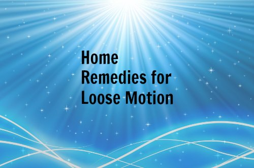 loose motion remedies