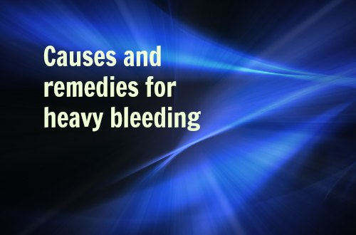 causes and remedies for heavy bleeding